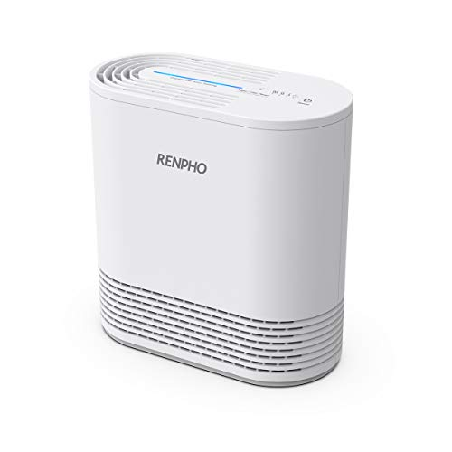 RENPHO Air Purifier with True HEPA Filter, Air Purifier for Allergies and Pets, Compact Air Cleaner for Bedroom Kitchen Home 103 SQ.FT, Eliminate 99.97% Odors Smokers Mold Pollen Dust for Kids Room