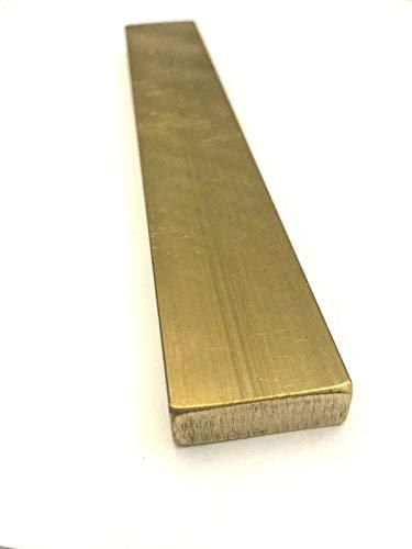 Brass Flat Bar Stock 3/8'(.375') x 1' x 6' C360 Extruded Rectangle Metal - 1pc
