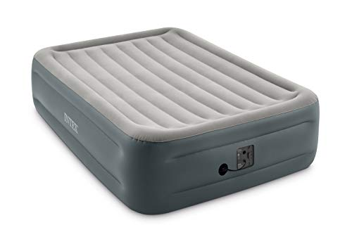 Intex Dura-Beam Series Essential Rest Airbed with Internal Electric Pump, Bed Height 18', Queen