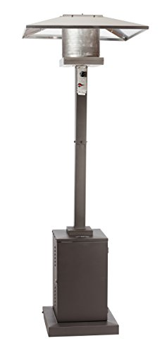 Golden Flame 46,000 BTUXL-Series Mocha Bronze Commercial Grade Propane Patio Heater w/Wheels