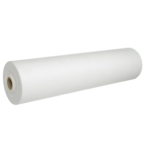 1 Beauty-Spa Perforated Disposable Bed ROLL, White Non Woven Exam Bed Cover, 55 Sheets, 24 Inches X 330 Feet, Massage Bed Sheets, Table Covers for Massage, Facial, Wax, Lash, Microneedling, Tattoo.