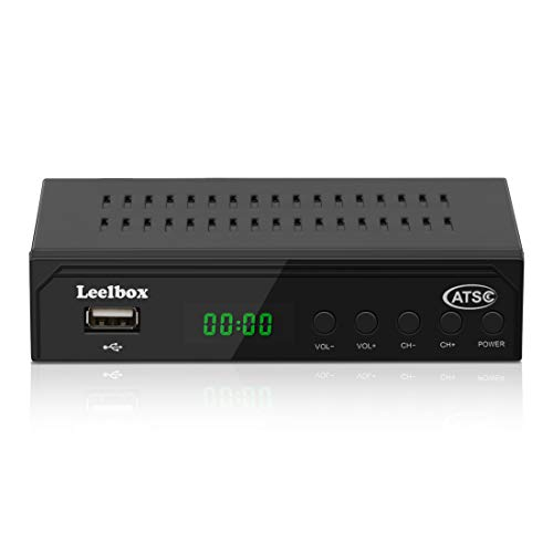Digital Converter Box, ATSC Converter Box for Analog TV,1080P HD Converters with Recording, Pause Live TV,Multiple USB Playback ,TV Tuner (black1)