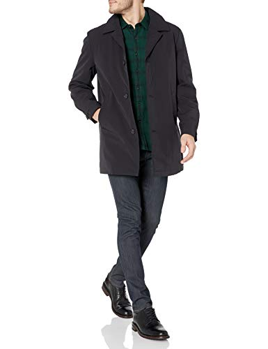 Calvin Klein Men's All Weather Jacket, Black Solid, 40 Short