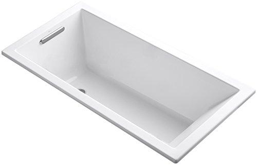 Kohler K-1121-0 Underscore Drop-In Undermount Bathtub, White