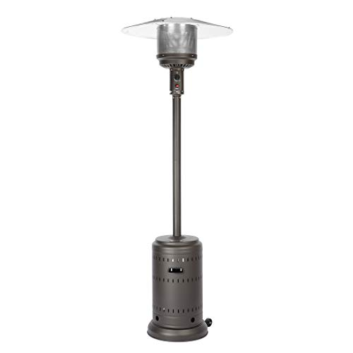 Fire Sense 46,000 BTU Gray Stainless Steel Commercial Patio Heater