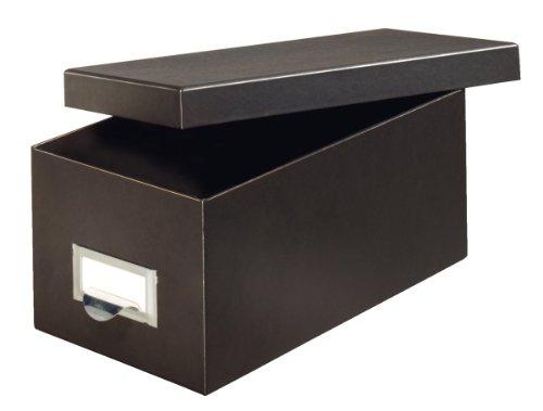 Globe-Weis/Pendaflex Fiberboard Index Card Storage Box, 4 x 6 Inches, Solid Black (4X6BLA)