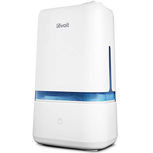 LEVOIT Humidifiers for Bedroom, 4L Ultrasonic Cool Mist Humidifier for Large Room Babies, Air Humidifier with Essential Oil Tray, Quiet Operation, Auto Shut-Off, Lasts up to 40 Hours