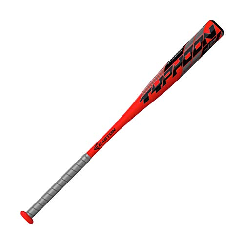EASTON TYPHOON -12 USA Youth Baseball Bat, 2 1/4 in Barrel, 28 in / 16 oz, 2021, 1 Piece Aluminum, Lightweight ALX100 Military Grade Alloy, Pro Style Concave End Cap, Cushioned 2.2mm Flex Grip