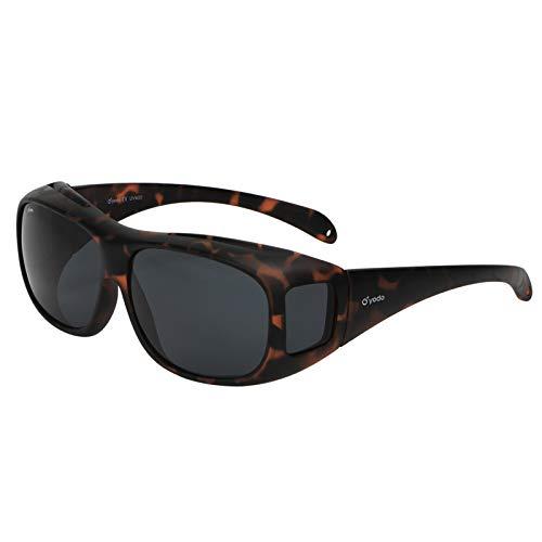 Yodo Fit Over Glasses Sunglasses with Polarized Lenses for Men and Women, Matt Leopard