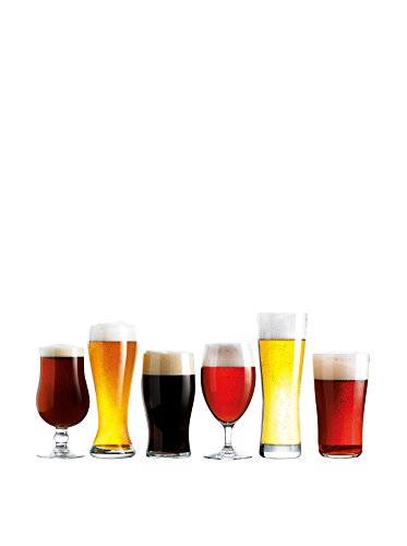 Luminarc Assorted Craft Brew Beer Glasses (Set of 6), Clear