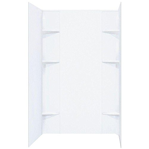 Mustee 260WHT Durawall Shower Wall Surround Side and Back Panels, One Size, White
