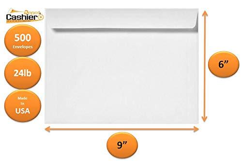 6' x 9' Booklet Envelopes, White, 24LB, 500 Count- Item# GF69NW