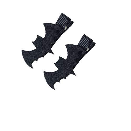Halloween Spider Bat Hairclip Black Hair Pins Clips Decorations for Halloween JHH31 (Bat)