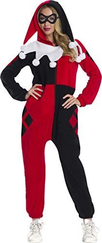 Rubie's DC Super Heroes Women's Harley Quinn Onesie Costume, As Shown, Medium