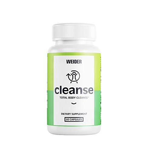 (New) Weider Total Body Cleanse - Removes Toxins & Waste -10 Day Quick Cleanse, 60Count