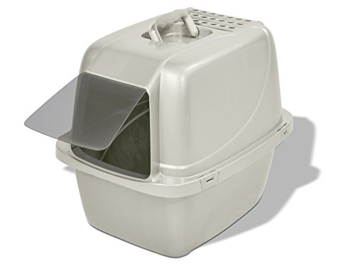 Van Ness Odor Control Large Enclosed Cat Pan with Odor Door - #CP6,Colors may vary