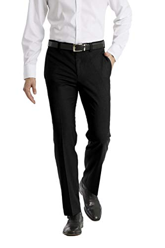 Calvin Klein Men's Modern Fit Dress Pant, Black, 34W x 32L