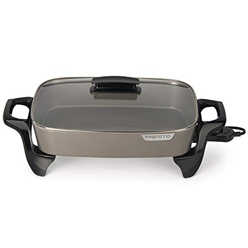 Presto Electric Skillet, 16', Grey Ceramic
