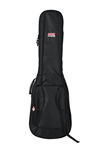 Gator Cases 4G Series Gig Bag For Bass Guitars with Adjustable Backpack Straps; Fits Precision and Jazz Bass Style Bass Guitars (GB-4G-BASS)