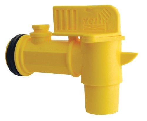 Vestil JDFT Plastic Manual Handle Jumbo Drum Faucet, Fits 2' Drum Openings