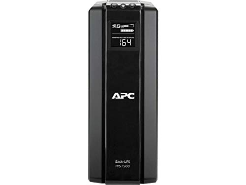APC 1500VA UPS Battery Backup & Surge Protector with AVR, Back-UPS Pro Uninterruptible Power Supply (BR1500G)