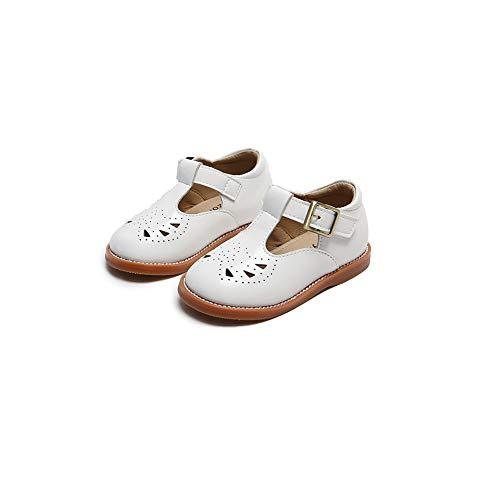 Toddler/Little Girls' Flat T-Bar Hook & Loop School Uniform Dress Shoes
