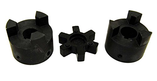 3/4' to 7/8' L100 Flexible 3-Piece L-Jaw Coupling Set & NBR Rubber Spider