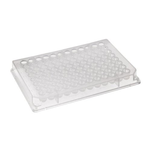 Corning 3799 Polystyrene Round Bottom 96 Well TC-Treated Microplate, With Lid, 330 microliter Well Volume (Case of 50)