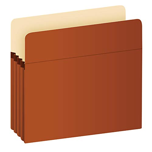Pendaflex Expanding File Pockets, Letter Size, Redrope, 3.5' Expansion, Reinforced with DuPont Tyvek Material, Redrope, 25 per Box (1524E-OX)