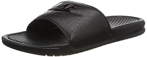 Nike Men's Benassi Just Do It Athletic Sandal, Black, 12 D(M) US