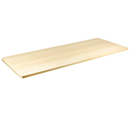 VIVO Light Wood 60 x 24 inch Universal Table Top for Standard and Sit to Stand Height Adjustable Home and Office Desk Frames (DESK-TOP60C)