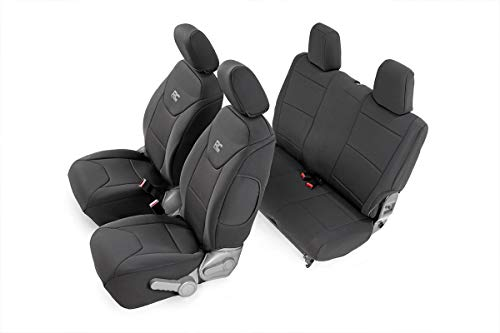 Rough Country Neoprene Seat Covers   (fits) 2007-2010 Jeep Wrangler JK 2DR   1st/2nd Row   Water Resistant     91005