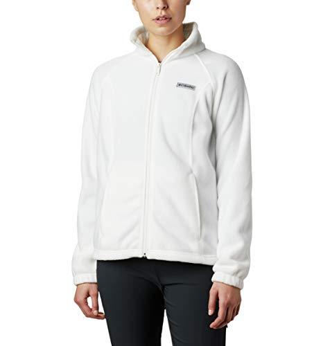 Columbia Women's Benton Springs Full Zip Jacket, Soft Fleece with Classic Fit, Sea Salt, MD