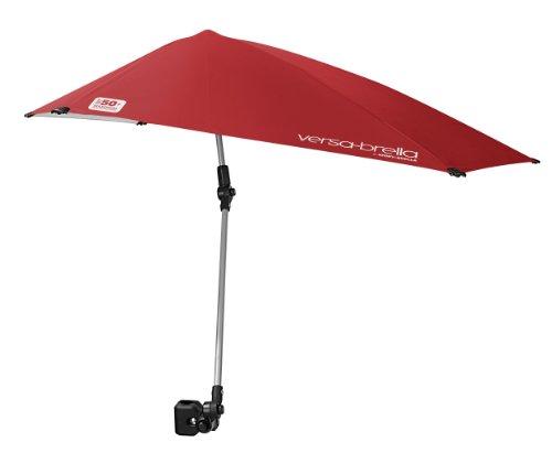 Sport-Brella Versa-Brella 4-Way Swiveling Sun Umbrella (Firebrick Red)