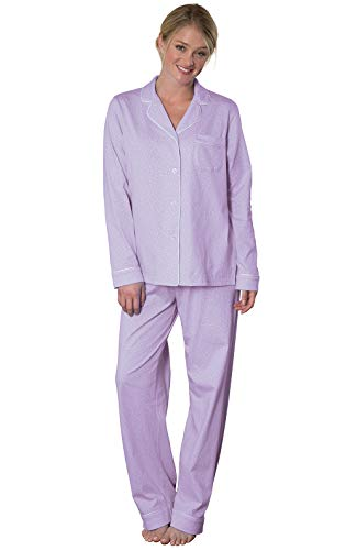 PajamaGram Womens Pajamas So Soft - Cute Pajamas for Women, Lavender, L, 12-14