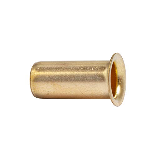LTWFITTING 3/8-Inch Brass Compression Insert,Brass Compression Fitting(Pack of 50)
