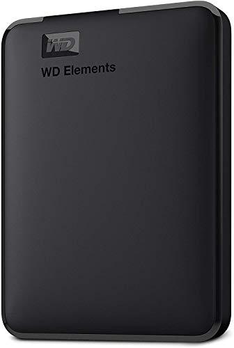 WD 1TB Elements Portable External Hard Drive - USB 3.0 - WDBUZG0010BBK-WESN,Black