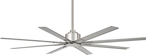 Minka-Aire F896-65-BNW Xtreme H20 65' Outdoor Ceiling Fan with Remote Control, Brushed Nickel Wet