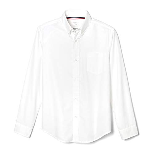 French Toast Little Boys' Long Sleeve Oxford Dress Shirt, White, 4
