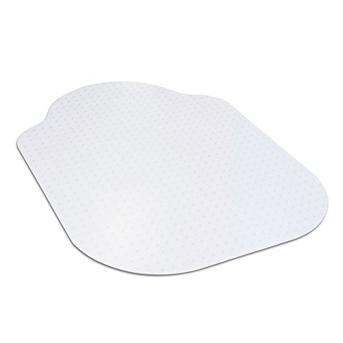 Evolve Modern Shape 33' x 44' Clear Office Chair Mat with Lip for Low Pile Carpet, Made in The USA by Dimex, (C5B5003G)