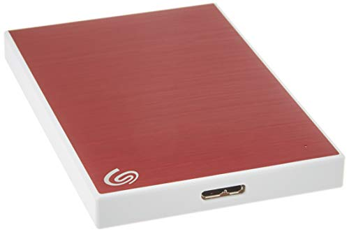 Seagate Backup Plus Slim 2TB External Hard Drive Portable HDD – Red USB 3.0 for PC Laptop and Mac, 1 year Mylio Create, 2 Months Adobe CC Photography, (STHN2000403)