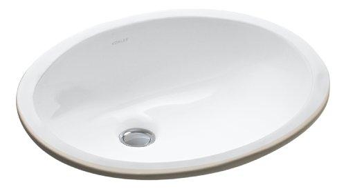 KOHLER K-2209-0 Caxton Under-Mount Bathroom Sink, White