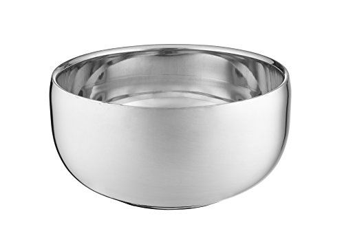 Perfecto Stainless Steel Shaving Bowl. Durable Metal Mug For Shaving Soap & Cream. Perfect Addition To Your Wet Shaving Kit. Double Layer Smooth Shave Unbreakable Mug With Heat Insulation