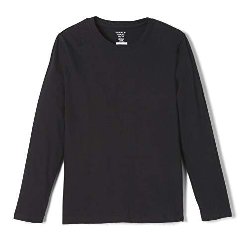 French Toast Boys' Little Long Sleeve Crewneck Tee T-Shirt, Black, 6