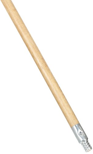 Rubbermaid Commercial Fg636400Lac Lacquered-Wood Handle With Threaded Metal Tip, Natural