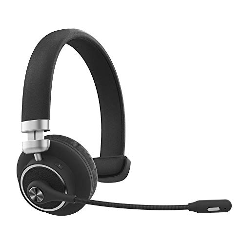 Willful M91 Bluetooth Headset Wireless Headset with Microphone (Flexible Noise Cancelling Mic) Mute Button Clear Sound Comfortable Wearing, Headset for Office Home Business Trucker Drivers