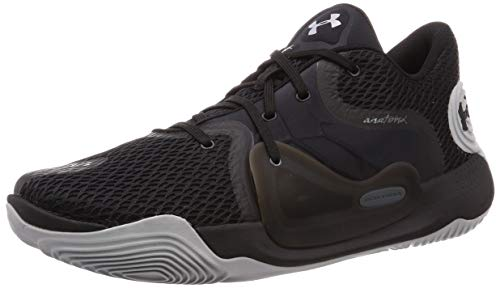 Under Armour Men's Spawn 2 Basketball Shoe, Black (001)/Pitch Gray, 12 M US