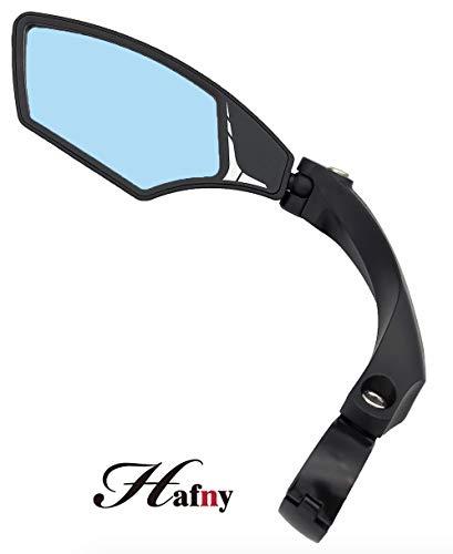 Hafny New Handlebar Bike Mirror, HD,Blast-Resistant, Glass Lens, HF-MR095 (Anti-Glare Left)