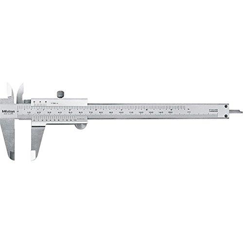 Mitutoyo 530-316 Vernier Caliper, Stainless Steel, Inch/Metric, 0-6' Range, +/-0.002' Accuracy, 0.0078' Resolution