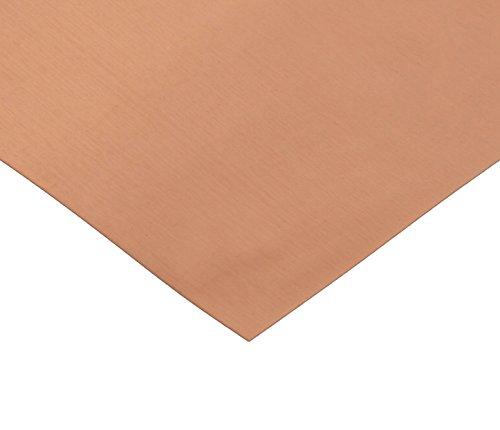 RMP 110 Copper Sheet, 12 Inch x 12 Inch x 0.021 Inch Thick